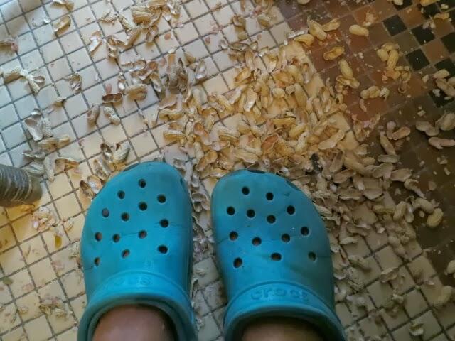 crocs with peanut shells