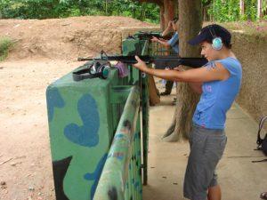 Shooting range Cu Chi tunnels Vietnam