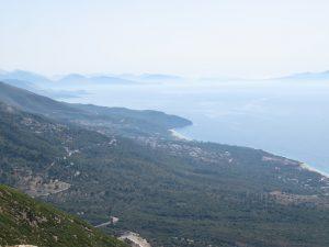 Adriatic coastal view from Albania