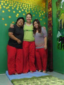 teachers A and Wii Jera Massage School Chiang Mai