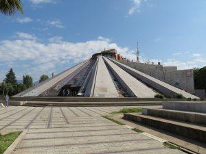 Enver Hoxha pyramid massoleum Tirana