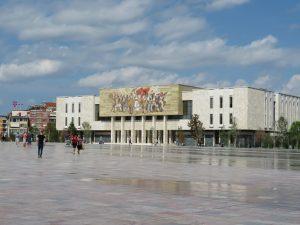 skenderbej square tirana museum view