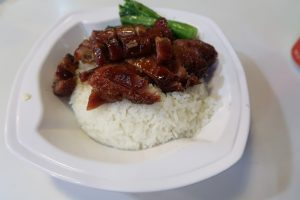 Char Sui with rice dish
