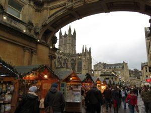 Bath Christmas market stalls