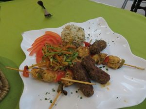moroccan meat brochettes kebabs