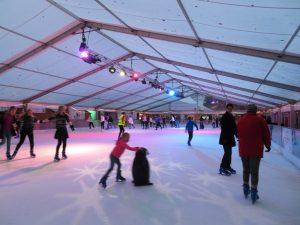 ice skating Winchester Christmas market