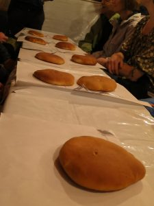 Moroccan knobz bread table view