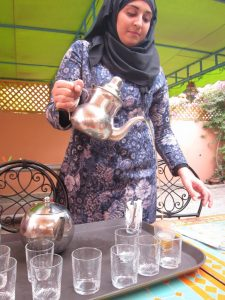 traditionally served moroccan mint tea