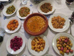 olives zaalouk eggplant/aubergine salads and dips